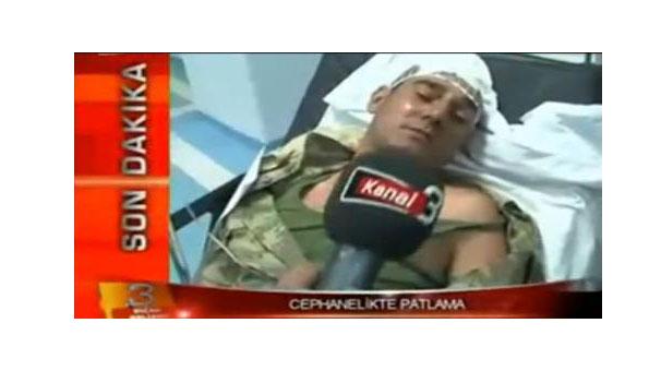 Yaralı asker dehşet anlarını anlattı