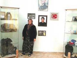 Şehit annesi evini müze yaptı